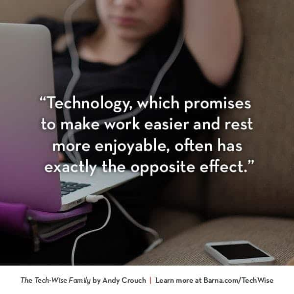Technology, which promises to make work easier and rest more enjoyable, often has exactly the opposite effect.