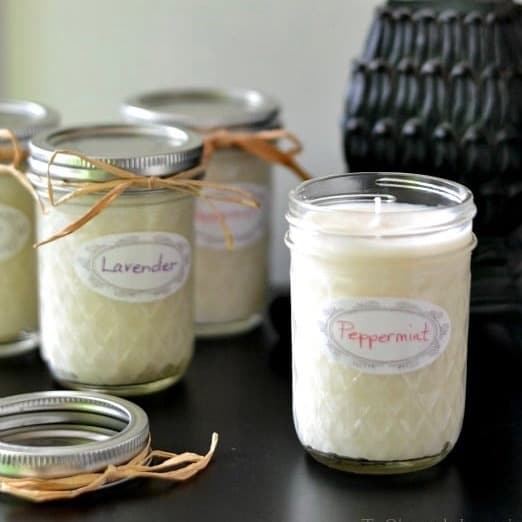 DIY Christmas Gifts: all natural soy candles