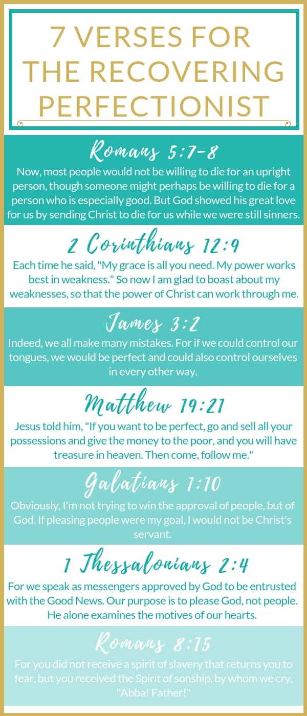 7 Verses for the Recovering Perfectionist