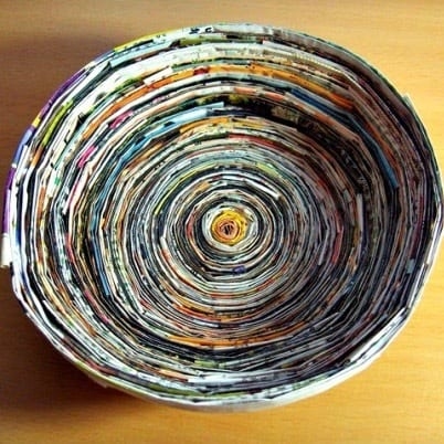 DIY Christmas Gifts: magazine bowl