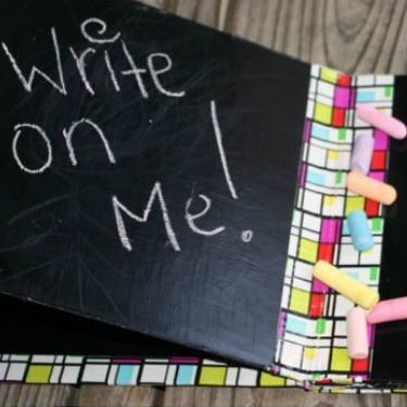 DIY Christmas Gifts: chalkboard book
