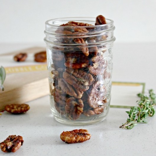 DIY Christmas Gifts: savory spiced pecans