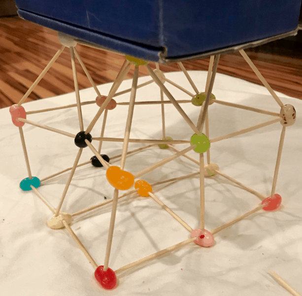date night in box review - foundations of love, toothpick structure