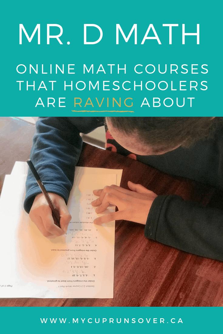 Mr D Online Math Courses for homeschoolers: online math classes that homeschoolers are raving about.