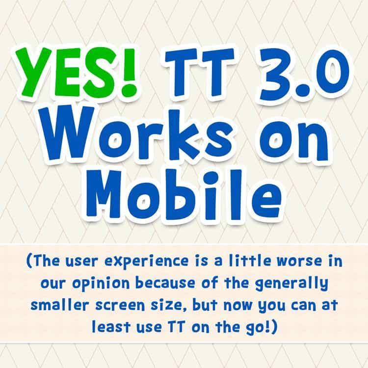 Teaching Textbooks 3.0 works on mobile