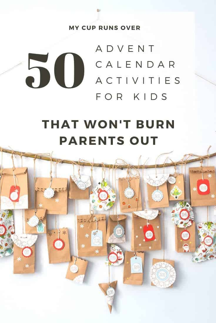 advent calendar activities for kids that won't burn parents out