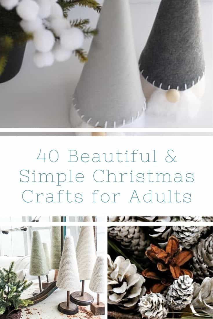 40 Beautiful & Simple Christmas Crafts for Adults