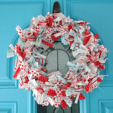 Easy DIY Rag Wreath