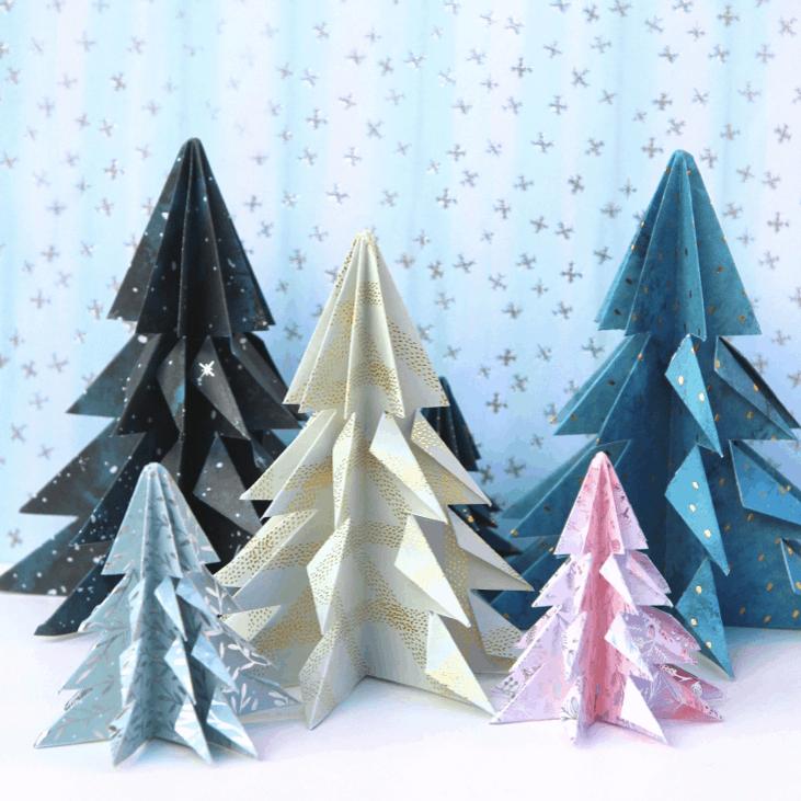 Easy Origami Christmas Trees