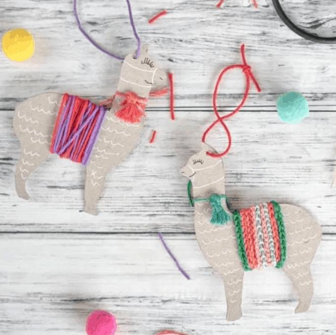 Upcycled Llama Ornament