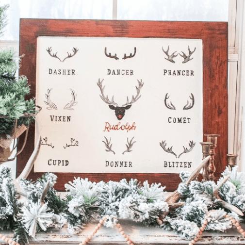 Reindeer Christmas Sign