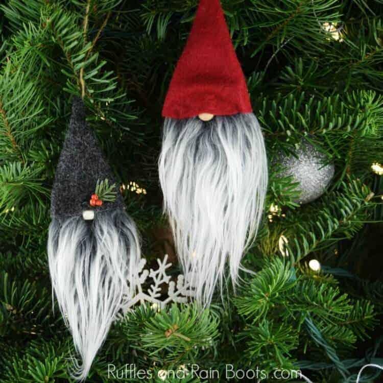 Christmas Ornaments Farmhouse style Rustic Decor Four Rae Dunn inspired Wood Slice Ornaments
